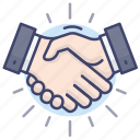 business, cooperation, handshake, partner icon