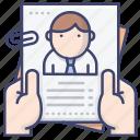 application, job, cv, resume icon