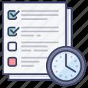checklist, deadline, task, work icon