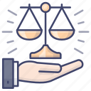 judge, justice, law, lawyer icon