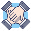 cooperation, partnership, team, teamwork icon