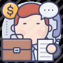 businessman, sales, salesman, selling icon
