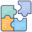 business, jigsaw, puzzle, solution icon