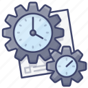 process, time, work, workflow icon