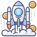 enterprise, funding, launch, startup icon