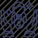 client, investor, service, sponsor icon