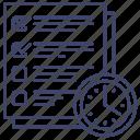 checklist, task, deadline, work icon