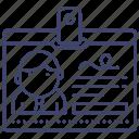 card, badge, id, identity icon