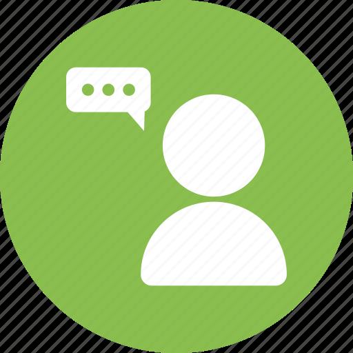 chat, man, person, shout, speaker, talk, talking icon