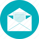 letter, mail, open icon