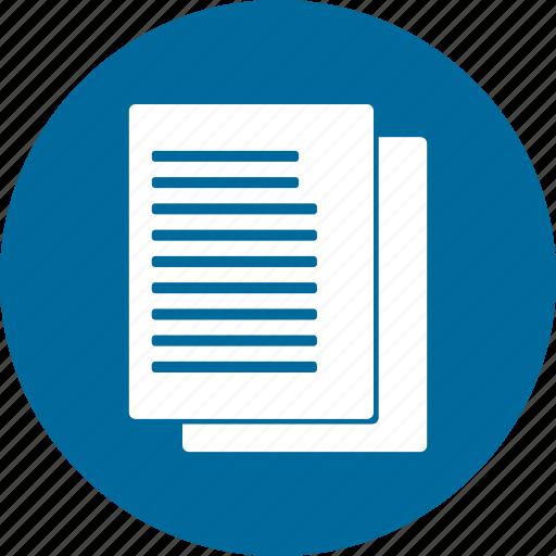 letter, menu, paper icon