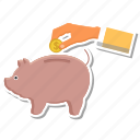 bank, dollar, handcoin, piggy, savings icon