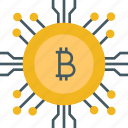 bitcoin, blockchain, business, cryptocurrency, currency, finance icon icon