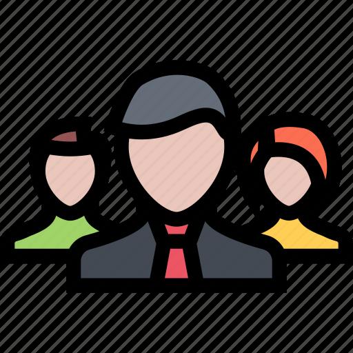 businesman, finance, group, people, profile, team icon