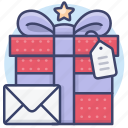 card, gift, present, wrapping icon