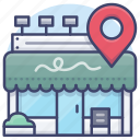 address, business, local, shop icon