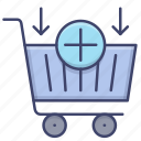 add, buy, shopping, cart icon