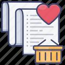 favorite, list, shopping, wishlist icon
