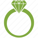 engagement, love, marriage, ring icon