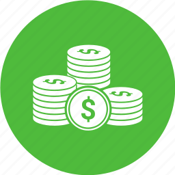 cash, coins, currency, dollar, money icon