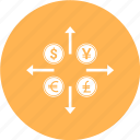 currency, dollar, money, sign, target icon