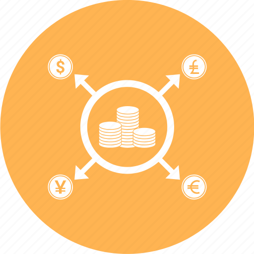coins, currency, dollar, money, sign, target icon