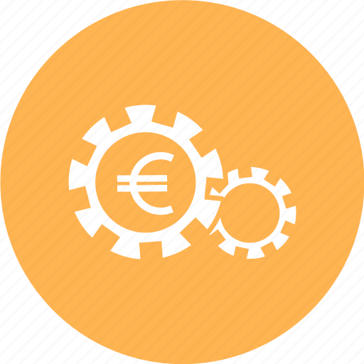 configuration, currency, finance, gear, money icon