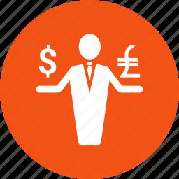 avatar, dollar, employee, income, money, person icon