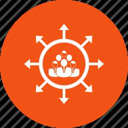 group, team, team work, working team icon