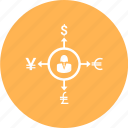 avatar, income, money, signs, target icon