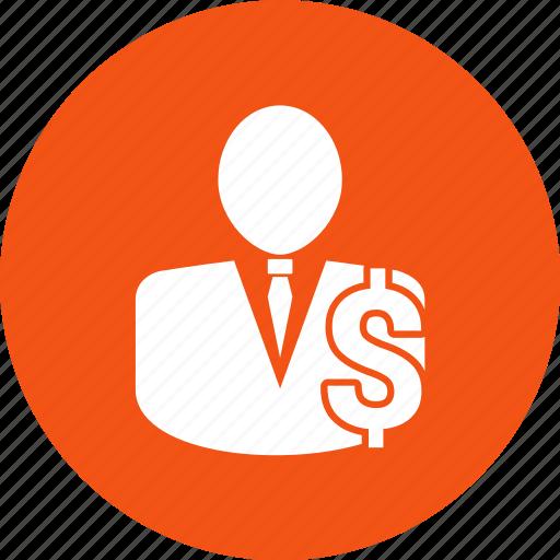 avatar, employee, income, money, person icon