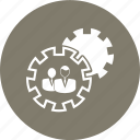 gear, office work, profile, setting, target icon