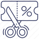 coupon, discount, preferential, sale icon