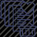 wishlist, favorite, list, shopping icon