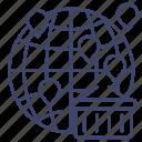 business, distribution, distributor, global icon