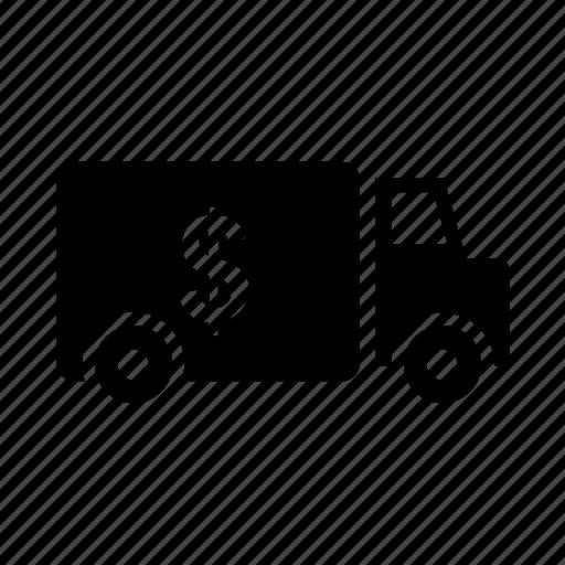 bank van, cash van, transport, van, vehicle icon icon