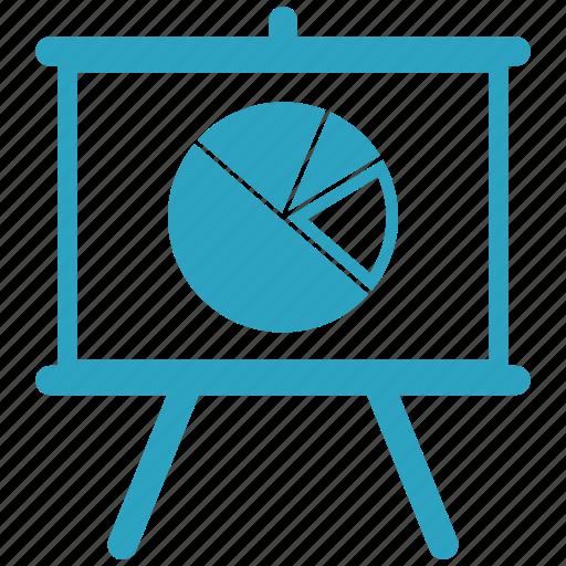 black board, board, pie chart, plank, school board icon