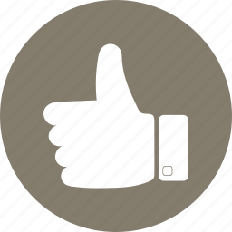 like, thumbs, up, vote icon