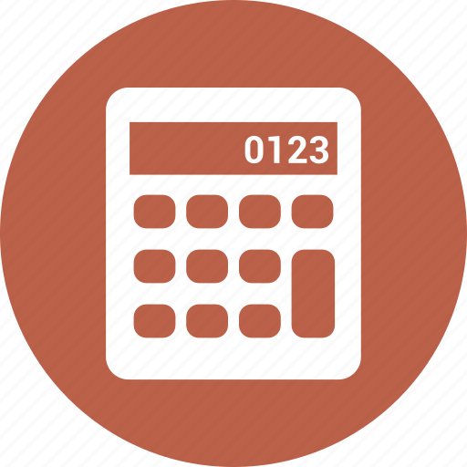 calculator, machine, numbers, office icon