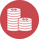 coin, coins, gold, money icon