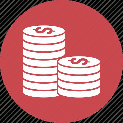 coin, coins, gold, money icon