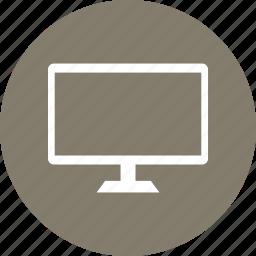 monitor, television, tv, work icon