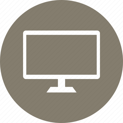 monitor, television, tv, work icon