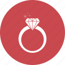 diamond, jewellery, ring icon