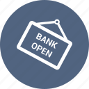 bank open, blackboad icon
