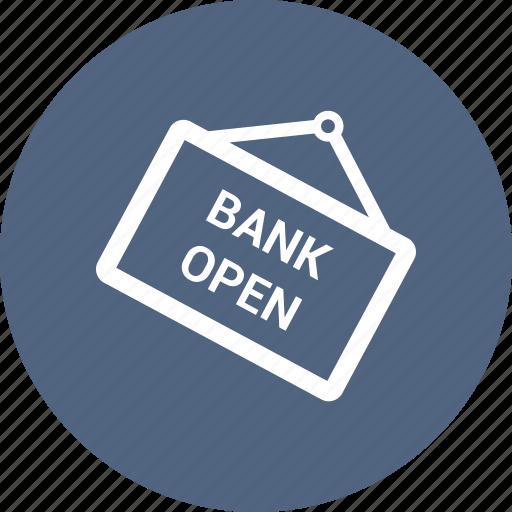 bank open, blackboad icon