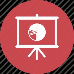 blackboard, education, math, pie chart, presentation icon