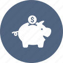 budget, piggy bank, savings icon