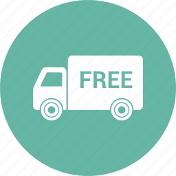 arrival, delivery, free, shipping icon