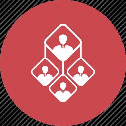 member, organize, team icon